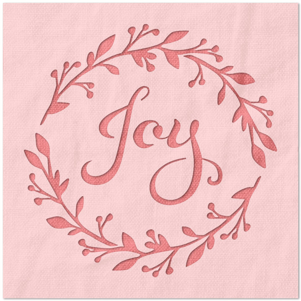 Joy Wreath Stencil