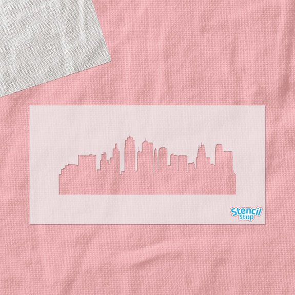 Kansas City Skyline Stencil