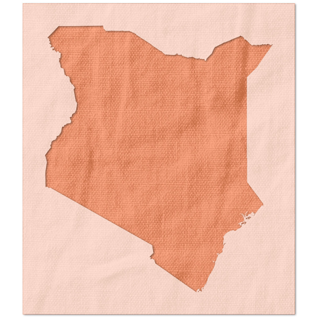 Shape of Kenya Stencil