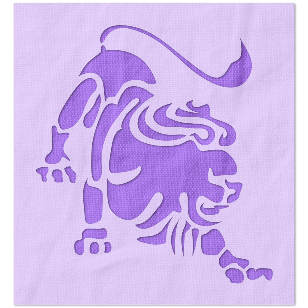 Leo Astrology Sign Stencil