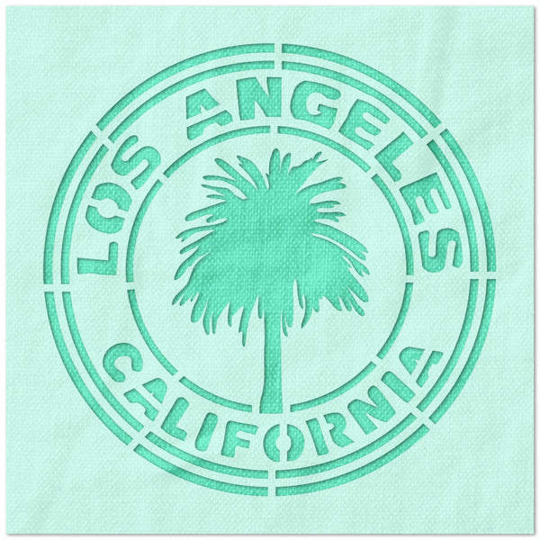 Los Angeles California Palm Tree Stencil