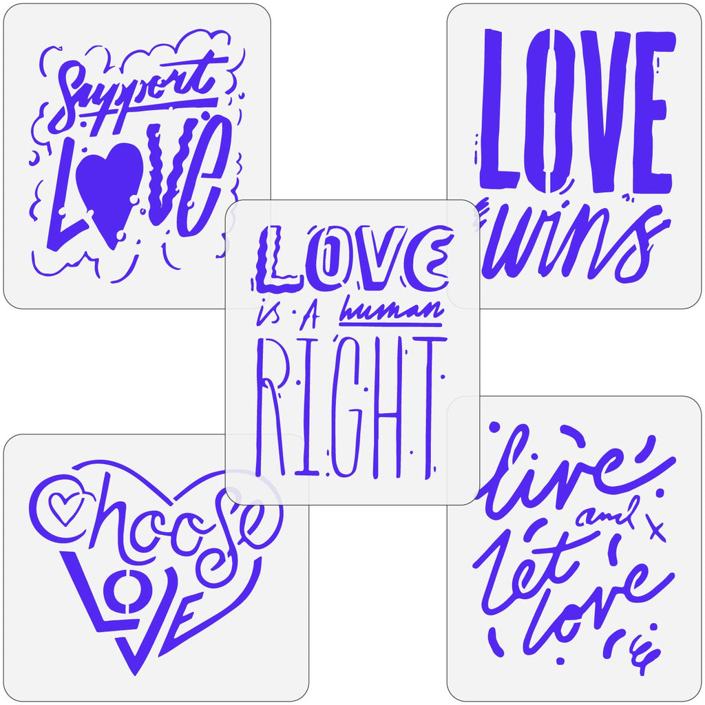 Love Equality Quote Stencils
