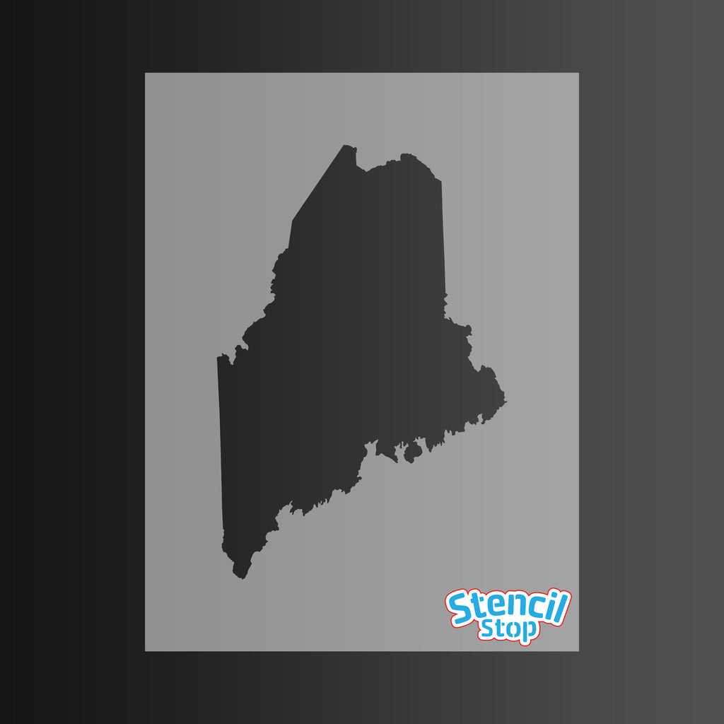 State of Maine Shape Stencil