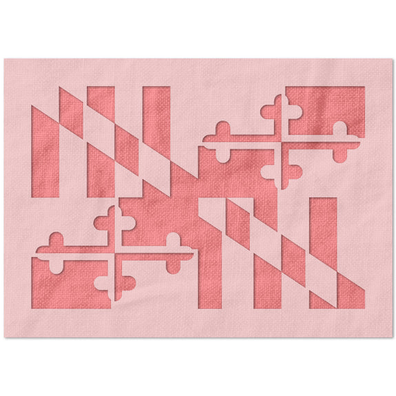 Maryland State Flag Stencil