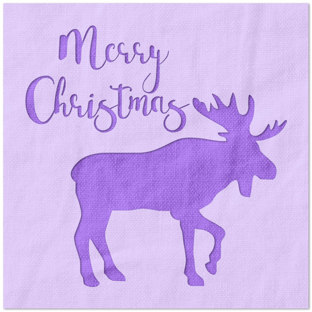 Merry Christmas with Elk Stencil