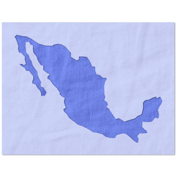 Mexico Outline Stencil