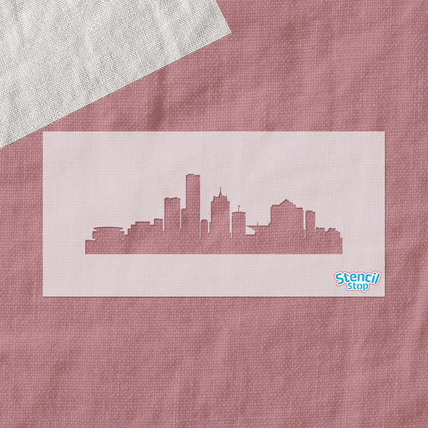 Milwaukee Skyline Stencil