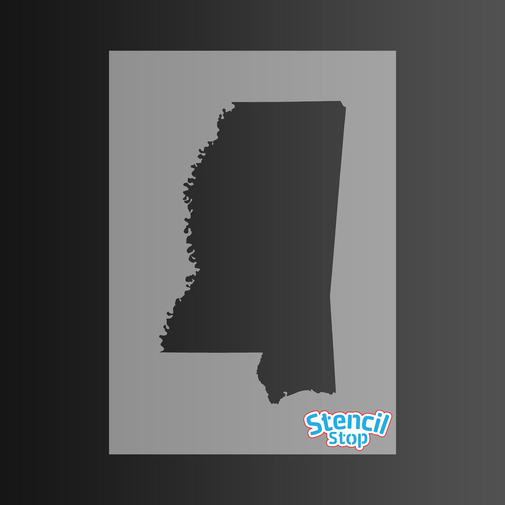 State of Mississippi Shape Stencil