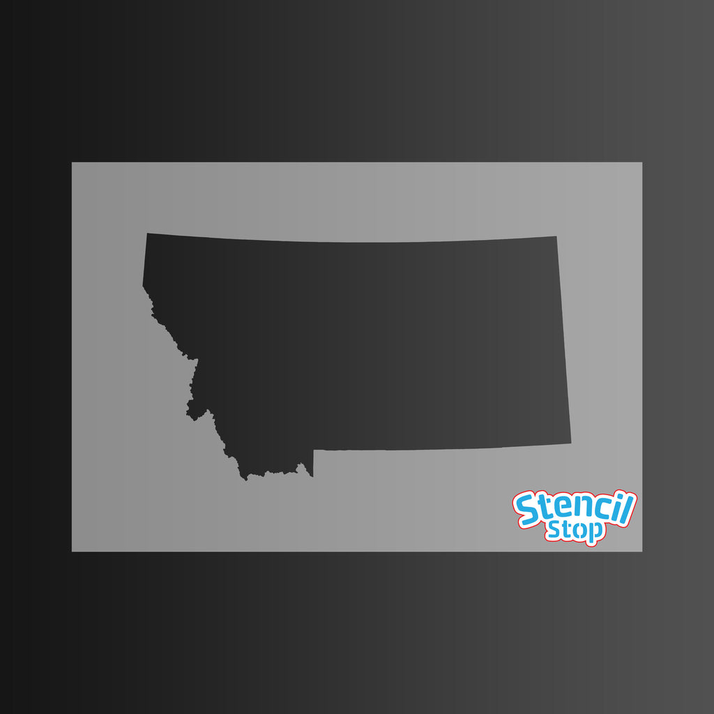 State of Montana Shape Stencil