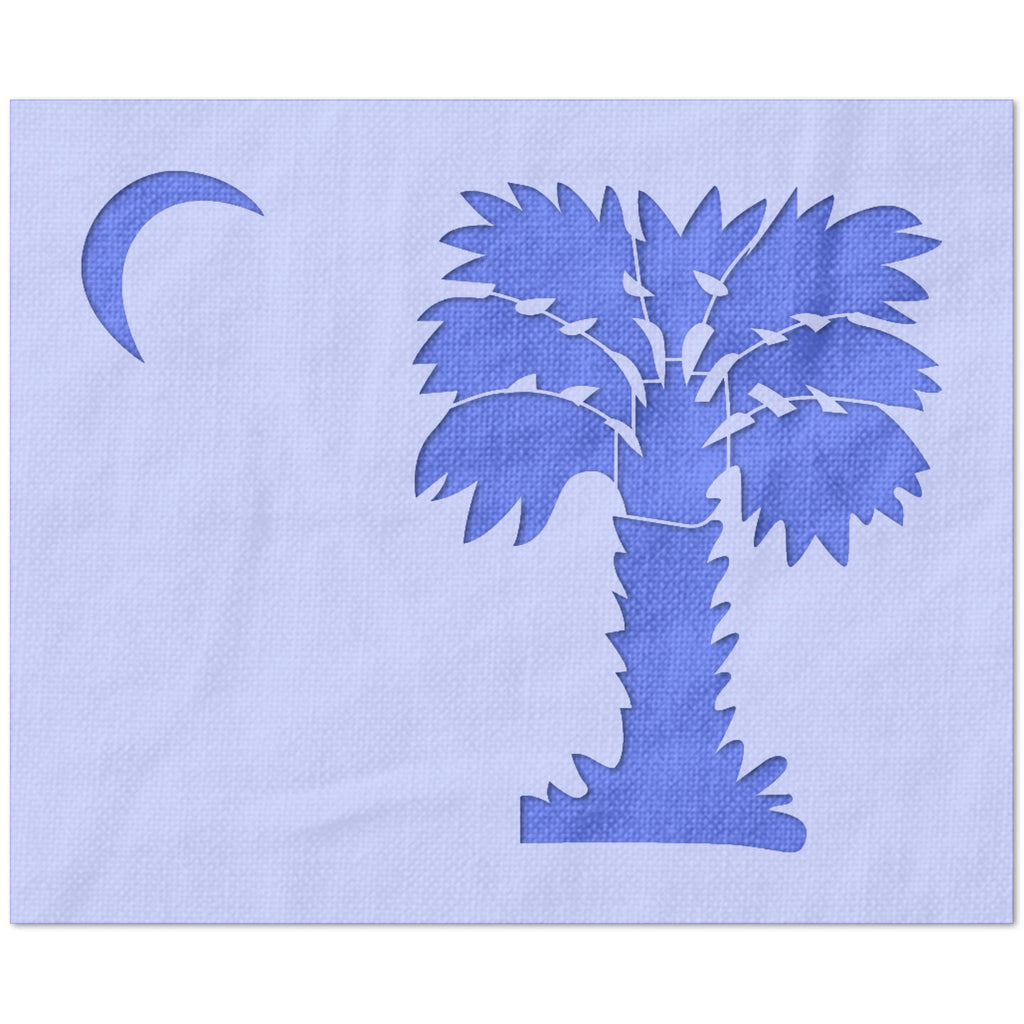 Palmetto Tree and Moon Stencil