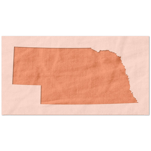 Nebraska State Outline Stencil