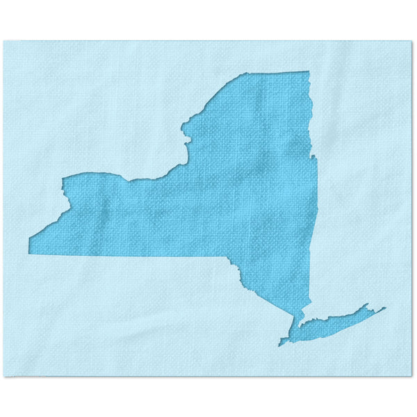 New York State Outline Stencil