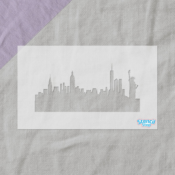New York City Skyline Stencil