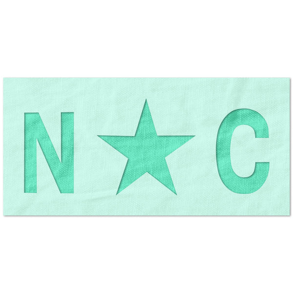 North Carolina State Flag Stencil