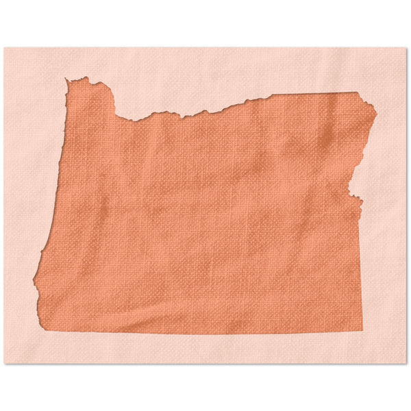 Oregon State Outline Stencil