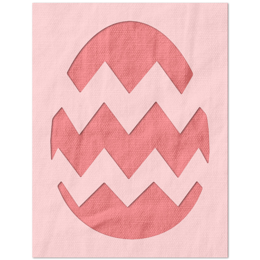 Chevron Easter Egg Stencil