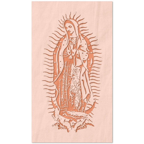 Our Lady of Guadalupe Detailed Stencil