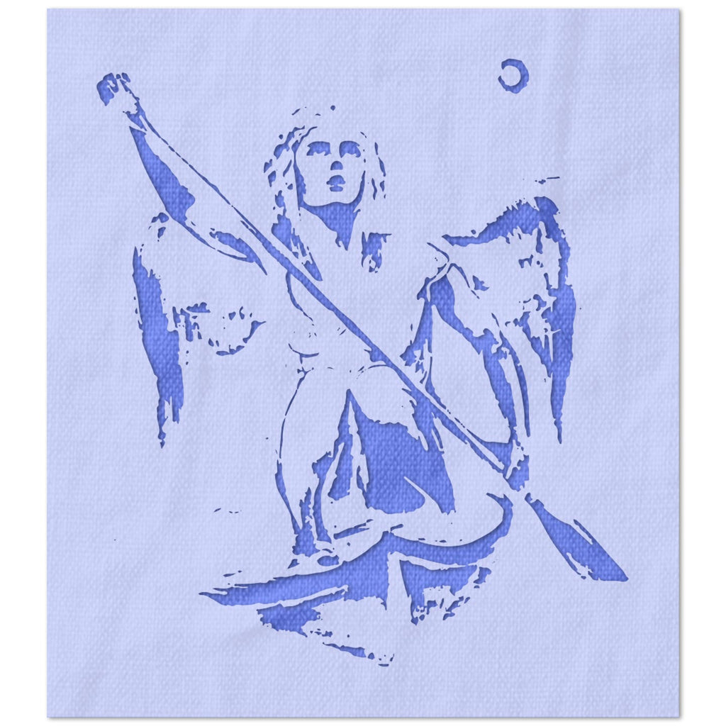 Paddling Angel Stencil
