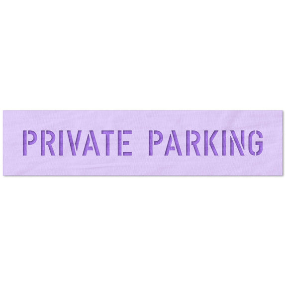 Private Parking Sign Stencil