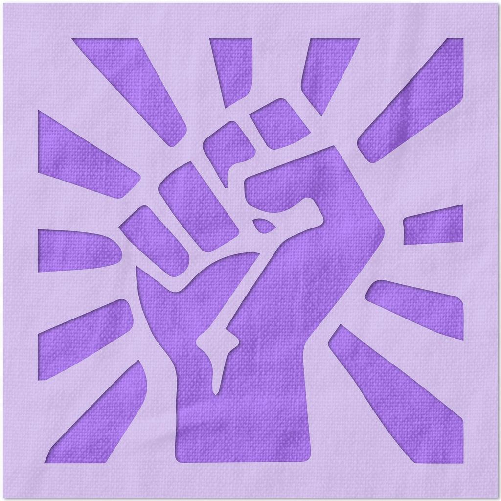 Raised Fist Power Stencil