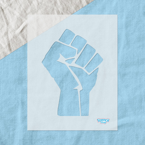 Raised Fist Stencil