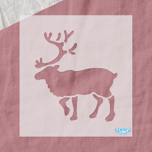 Walking Reindeer Stencil