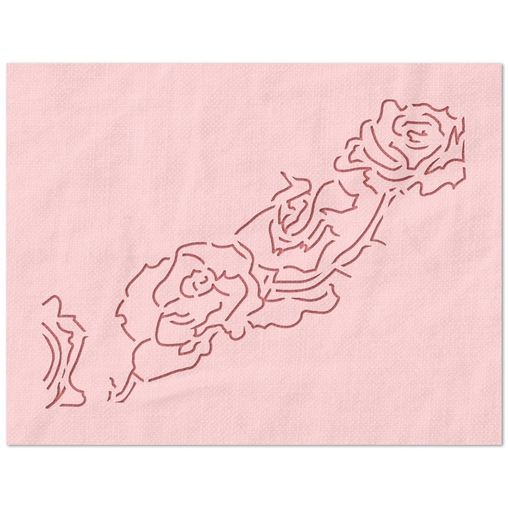Rose Flower Chain Stencil