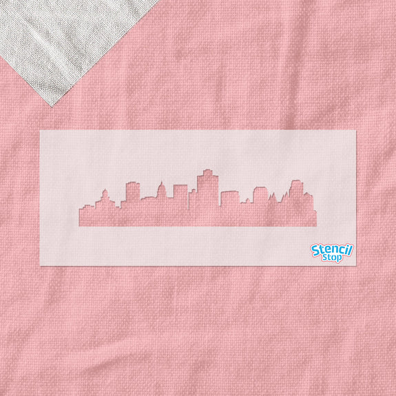 Salt Lake City Skyline Stencil