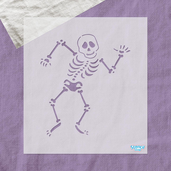 Silly Skeleton Stencil