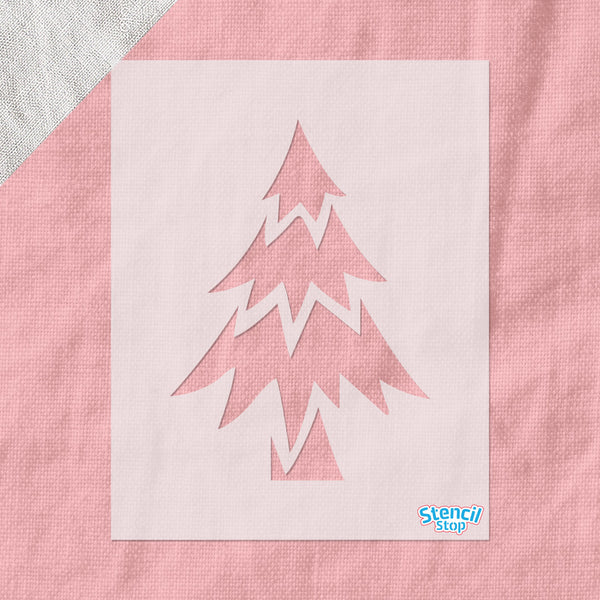 Simple Christmas Tree Stencil