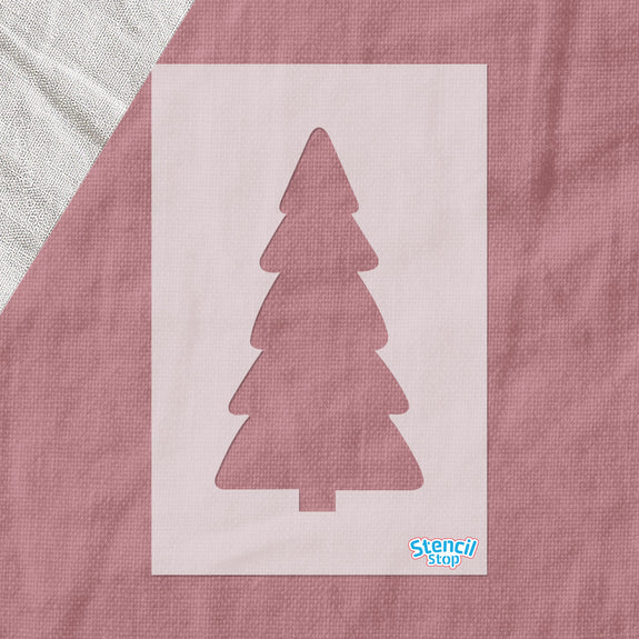 Rounded Christmas Tree Stencil