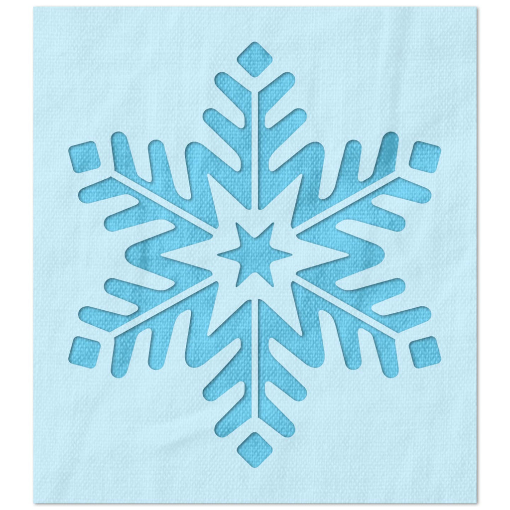 Six Point Snowflake Stencil