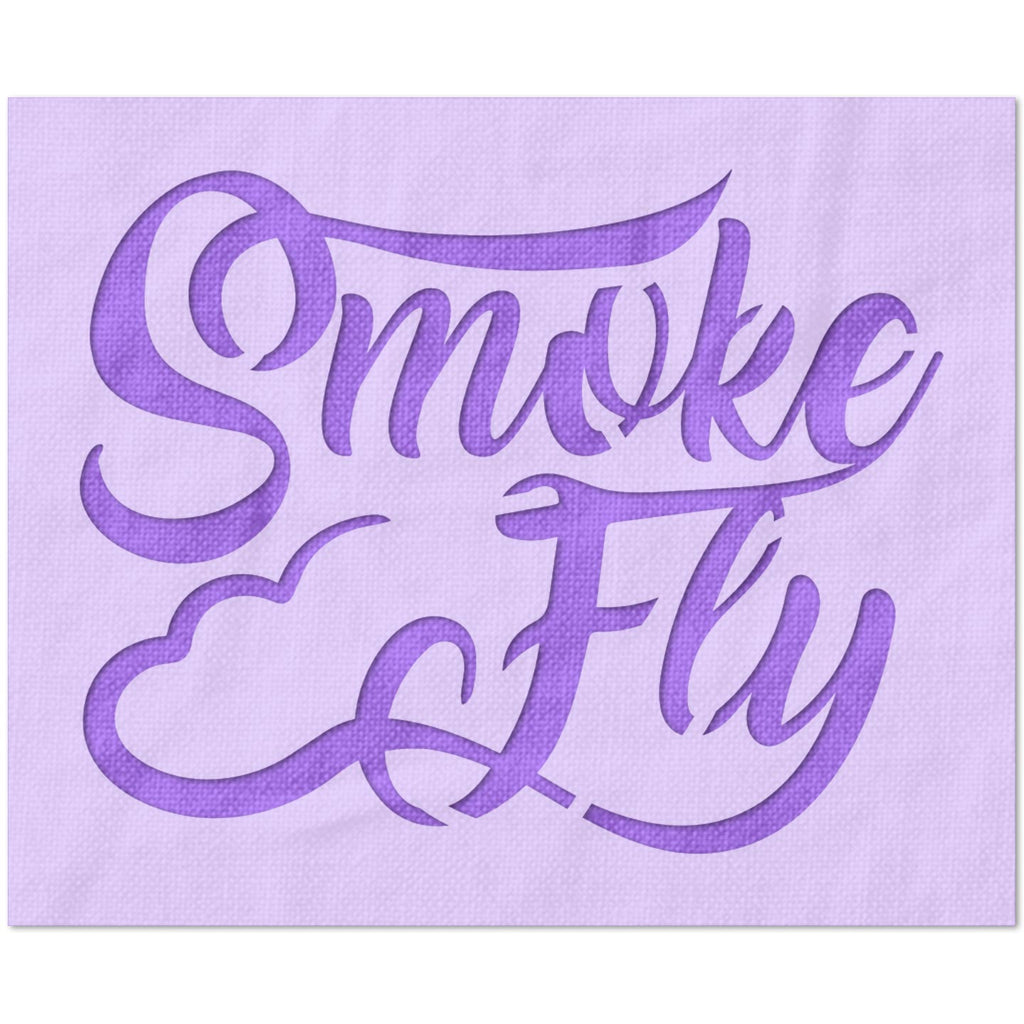 Smoke and Fly Stencil