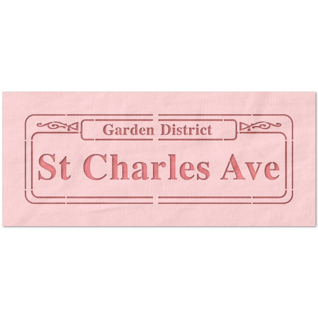 St Charles Avenue Sign Stencil