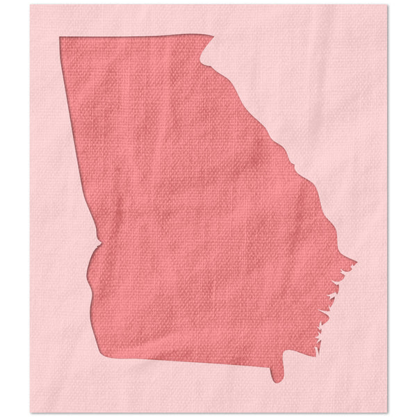 Georgia State Outline Stencil