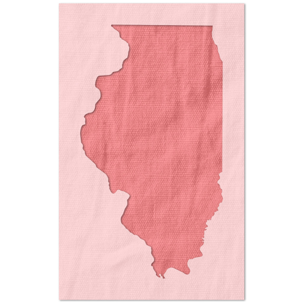 Illinois State Outline Stencil