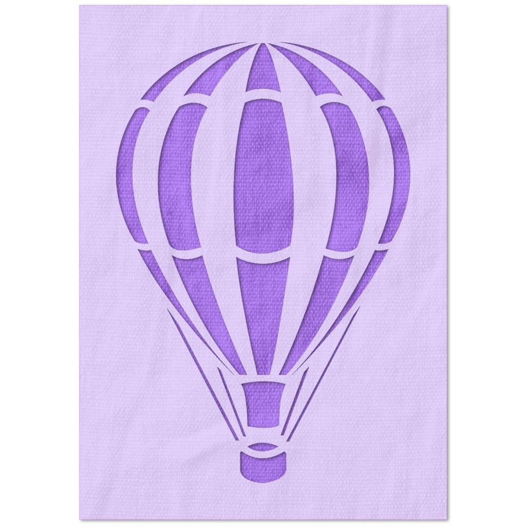 Striped Hot Air Balloon Stencil