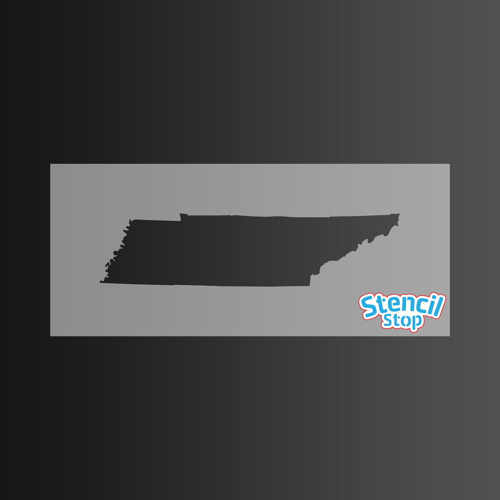 State of Tennessee Shape Stencil