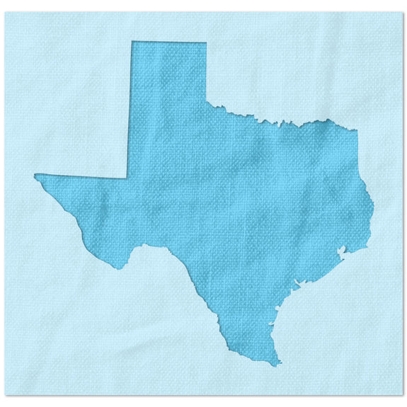 Texas State Outline Stencil