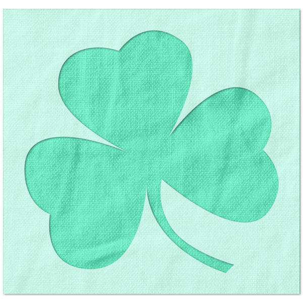 Three Leaf Clover Stencil