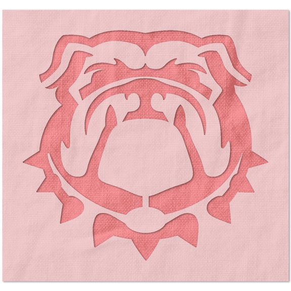University of Georgia Bulldog Logo Stencil