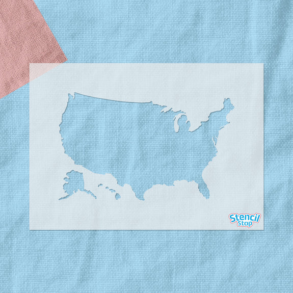United States Outline Stencil