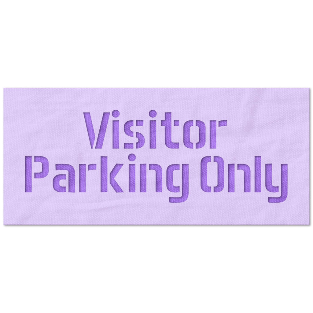 Visitors Parking Stencil