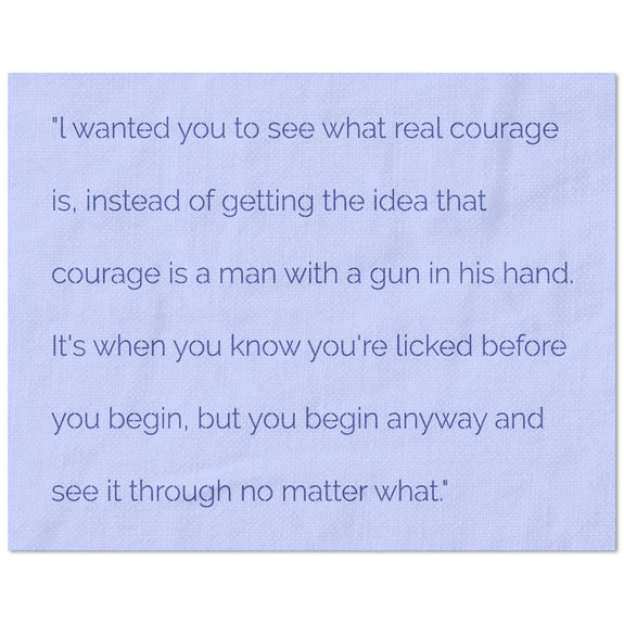 Wanted Real Courage Quote Stencil