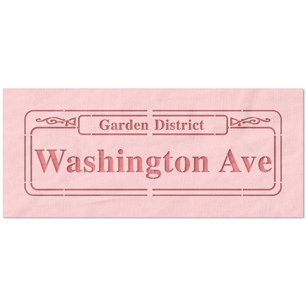 Washington Avenue Street Sign Stencil
