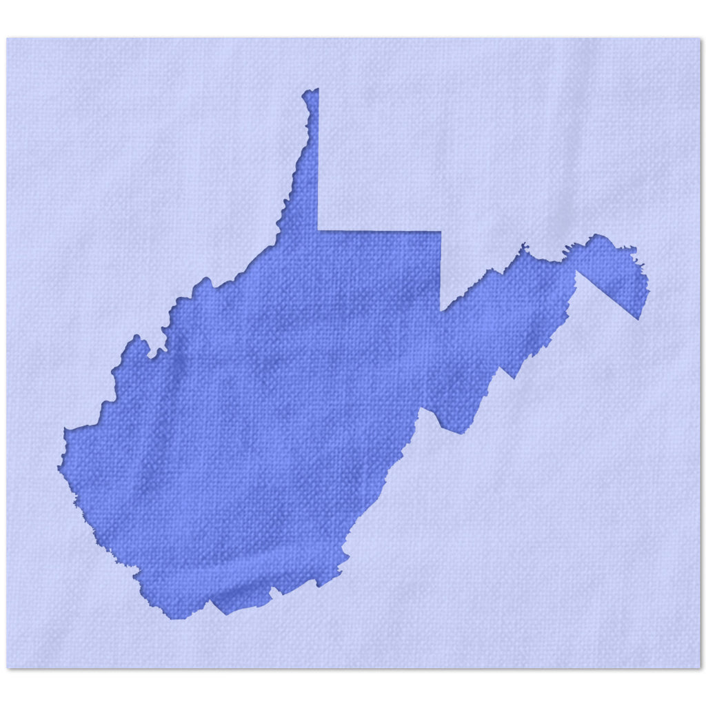 West Virginia State Outline Stencil