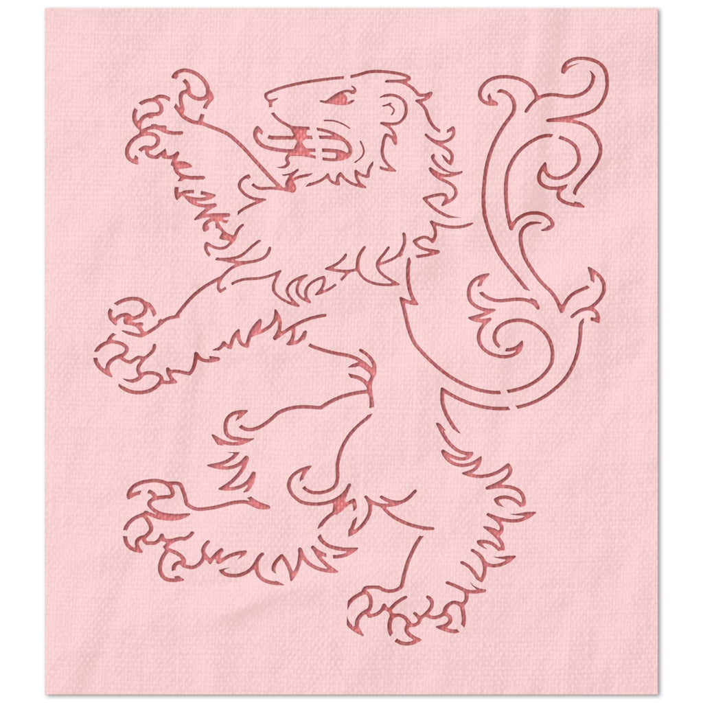 William Marshal Coat of Arms Lion Stencil