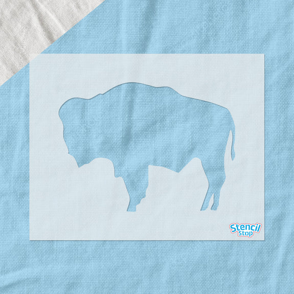 Wyoming State Flag Buffalo Stencil