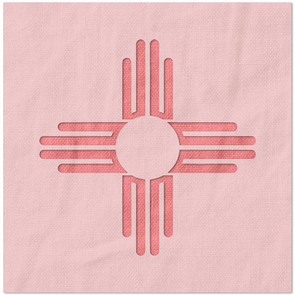 Zia Sun New Mexico Flag Stencil