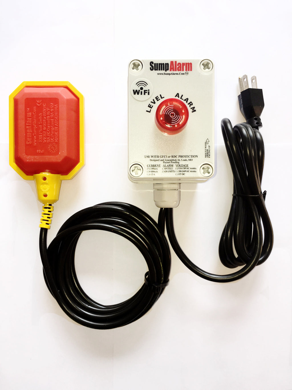 Wifi Wireless In//Outdoor Sump Pump//High Water Alarm Contacts you by voice e-mail and text before you have a problem.